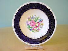 Simpsons Potters Cobridge - Solian Ware bowl - floral, cobalt blue & gold - VGC