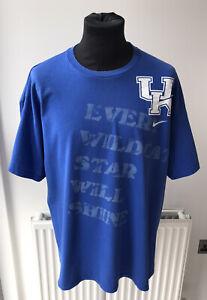 Kentucky Wildcats Mens Nike Team NCAA College T-Shirt Blue Size XL
