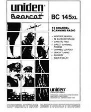 Uniden Bearcat BC 140 142 144XL 145XL 147X Owner Manual