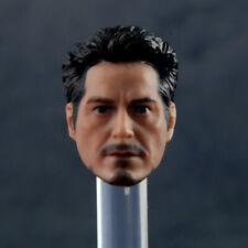 1/12 Man Head Tony Stark Iron Man Sculpt Carved PVC 1in. Model F SHF MK4 Figure
