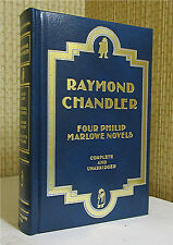 FOUR PHILIP MARLOWE NOVELS, Raymond Chandler, Leather, THE BIG SLEEP Book