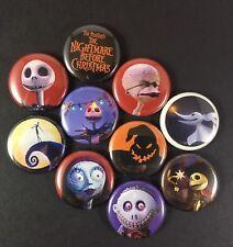 """Nightmare Before Christmas 1"""" Button Pin Lot Tim Burton Halloween Christmas"""