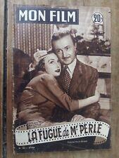 Magazine MON FILM LA FUGUE DE MR PERLE NOEL-NOEL arlette POIRIER  1953 *