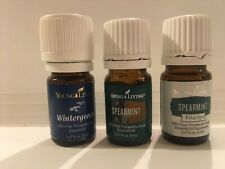 New Sealed Lot Young Living 5 ml Wintergreen 2x Spearmint Essential Oils