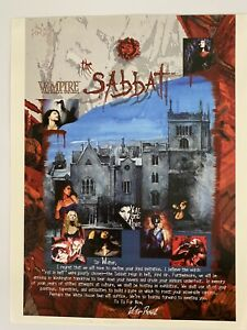Rare TCG 1996 Vampire The Eternal Struggle the Sabbat Sellsheet CCG