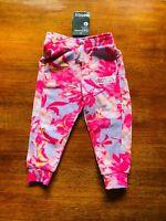 Bonds Baby Digi Sweats Blurred Blooms Pink Purple Floral Sweatpants BNWT Size 2