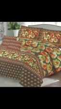 Attractive Light-Weight Patterned Bedspread with 2 Pillowcases , Cotton Material