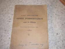 1921.année d'observation sur le Rhin.T2.Guerre 14-18