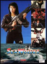 SEA WOLVES__Original 1991 Trade AD movie promo / poster__CYNTHIA KHAN__SIMON YAM