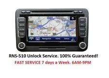 Volkswagen RNS-510 RNS315 Radio Code Unlock Stereo Codes PIN | Fast Service