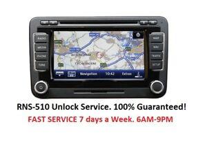 Volkswagen RNS-510 RNS315 Radio Code Unlock Stereo Codes PIN   Fast Service
