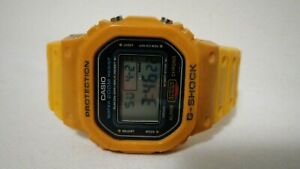 Vintage men's Casio G-Shock DW-5600 691 Limited Edition Watch off yellow.