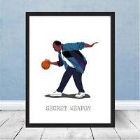 Framed The Office Stanley Hudson Basketball Secret Weapon Dunder Mifflin Gift