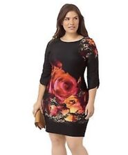 Julian Taylor Black Floral Print Dress size 2X