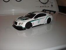 RARE CUSTOM Bentley Continental GT3 1:24 RHD Race Car w/ black wheels FREE SHIP