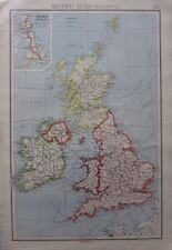 1942 MAP ~ BRITISH ISLES POLITICAL RAILWAY GROUPS SCOTLAND IRELAND WALES