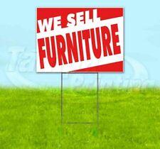 We Sell Furniture Yard Sign Corrugated Plastic Bandit Lawn Decoration Usa