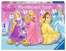 CHILDRENS DISNEY PRINCESS 4 SHAPED 10, 12, 14, 16 PIECE JIGSAW PUZZLES
