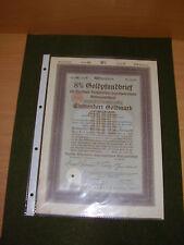 Hipoteca ORO DER DEUTSCHEN wohnstätten-hypothekenbank AG, 100gm, 22.11.1929