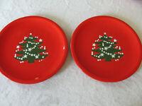 Waechtersbach Christmas Tree Red W Germany - Set of 2 Dinner Plates