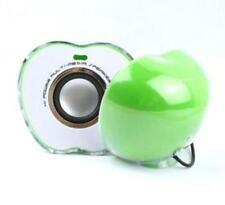 Mini Altavoz Portátil Apple forma con luz LED USB para teléfono Psp MP3 PC verde