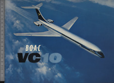 (192) Brochure aviation Aircraft BOAC VC10