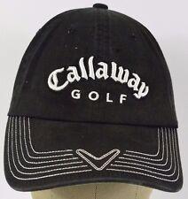 Black Callaway Golf Logo embroidered baseball hat cap adjustable strap