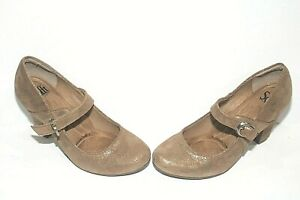 Sofft Miranda Mary Jane Strap Heels Metallic Gold Size 8.5m New Without Box