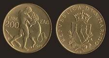 SAN MARINO 200 LIRE 1979 FAO LOTTA CON IL LEONE FDC/UNC FIOR DI CONIO