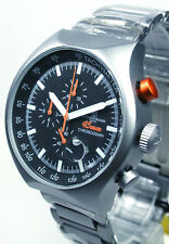 MONTRES DE LUXE , 45MM,  SILVER CHRONOGRAPH, MADE AND DESIGNED IN ITALY