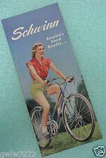 SCHWINN 1950 Bicycle Sales Catalog/Brochure Bike-Phantom-WHIZZER-Paramount-NOS