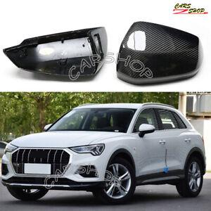 For Audi Q2 Q3 Quattro 19-20 Carbon Fiber Side Mirror Cover Caps Replace W Lane