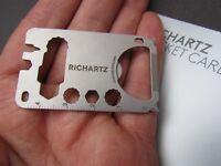 RICHARTZ POCKET TOOL, POCKET CARD M 19+, Multitool, Tool, Navaja de bolsillo