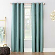 "Style Decor Mystic Grommet Panel Woven Curtains 2 Panels Mystic Green 40""X84 New"