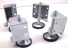 4 Corners ADJUSTABLE FEET HEAVY DUTY Capacity Levelator Leg Leveler Furniture NC