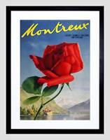 TRAVEL MONTREUX CHILLON CHATEAU SWITZERLAND ROSE FLOWER ART PRINT B12X1632