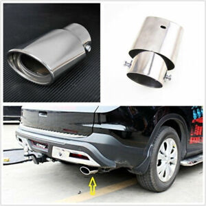 SUV Truck Exhaust Pipe Trim Tips Muffler Pipe Car Silver Chrome Tail Throat Pipe