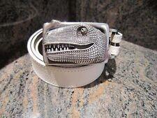 RARE!!! Kieselstein-Cord T-REX Buckle With White Lizard Belt