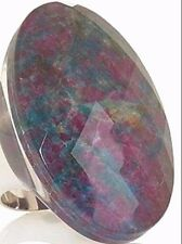 """Colleen Lopez Gemstone Triplet """"Beauty in the Rough"""" Sterling Ring Size 6"""