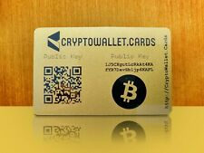BITCOIN / BTC Cryptocurrency Storage Wallet Cards / Gift