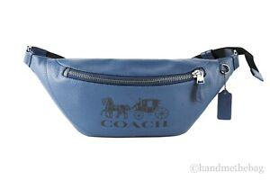 Coach C4137 Warren Men's Pebbled Leather Embossed Logo Belt Bag Waist Fanny Pack