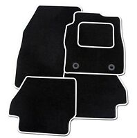 MERCEDES W203 C CLASS 2000-2007 TAILORED BLACK CAR MATS WITH WHITE TRIM