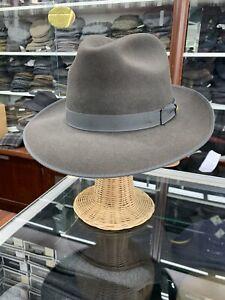 Stetson Caprice Dark Gray Men's Fur Felt Made In USA Size 7 3/8