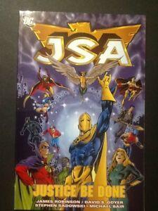 JSA v1 Justice Be Done JSA #1-5 Secret Files #1 James Robinson 144 pg DC tpb $15