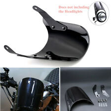 "1x Motorcycle Black Windshield Windscreen Cover Kit Fit for 5""&7""Round Headlight"
