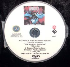 METALLICA with M Faithful The Memory Remains Promo Music Video DVD Single NOT CD