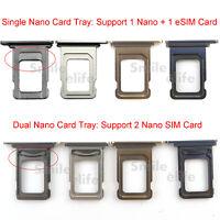 Original Single Dual Nano SIM Card Tray Holder For Apple iPhone 11 Pro / Pro Max