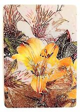 SWAP CARD. ALSTROEMERIA FLOWERS. LILY OF THE INCAS, PERUVIAN LILY. WIDE. MINT