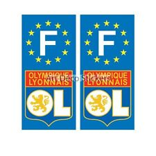 2 Stickers autocollants plaque d'immatriculation OL plaque OL