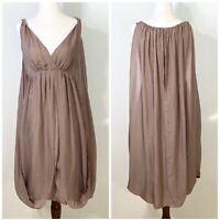 GARNET HILL size 4 silk flowy draped goddess dress